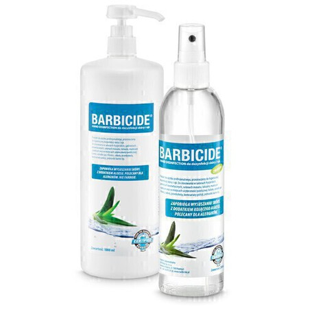 BARBICIDE HAND DISINFECTION do dezynfekcji rąk i skóry 250ml