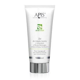 APIS ACNE STOP Żel wygładzający do masażu twarzy dla cery tłustej z minerałami z Morza Martwego 200ml