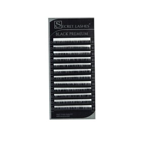 Rzęsy Black Premium skręt C 0,03mmx9mm SECRET LASHES