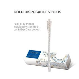 Jednorazowy pen (piórko) do microbladingu (bez nożyka) Glitter Gold MIDAS MICROBLADING STYLUS MEI-CHA