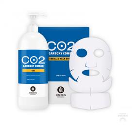 RIBESKIN Karboksyterapia Bezigłowa CO2 ŻEL CO2 + 25 PŁATÓW NA TWARZ I SZYJĘ