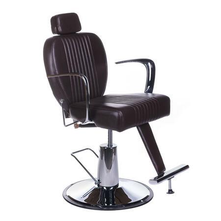 Fotel barberski OLAF BH-3273 Brązowy