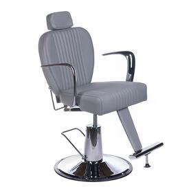 Fotel barberski OLAF BH-3273 Jasny szary