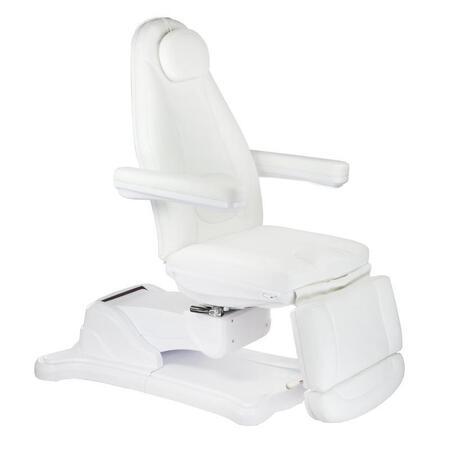 Elektryczny fotel kosmetyczny Mazaro BR-6672B Biały