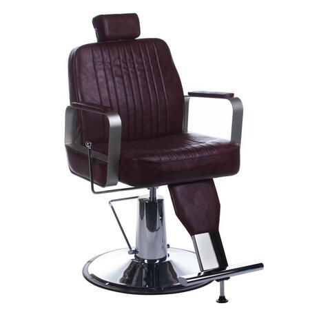 Fotel barberski HOMER BH-31237 Wiśniowy